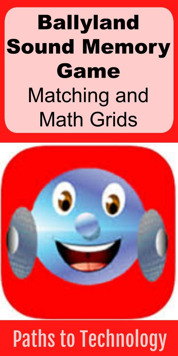 Ballyland Sound Memory Game: Matching and Math Grids | iPads