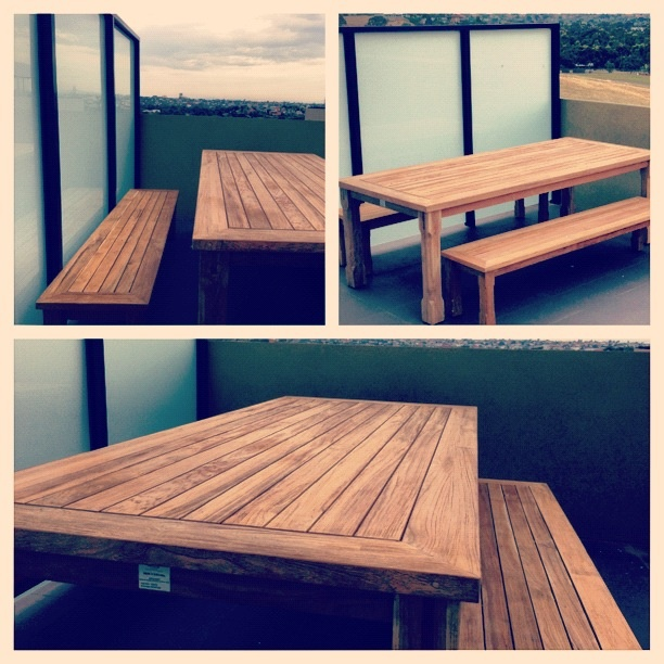 Timber outdoor table - 'our house, in the middle of the street'