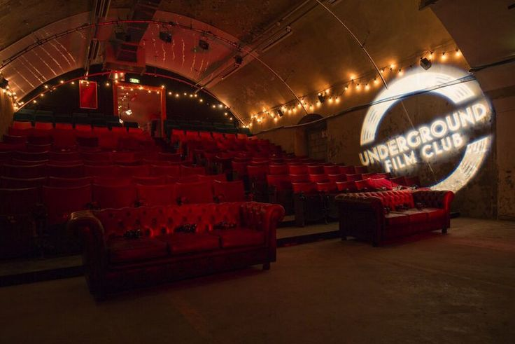 The London Underground Film Club, situated in the disused underground station of Charing Cross. Click for details