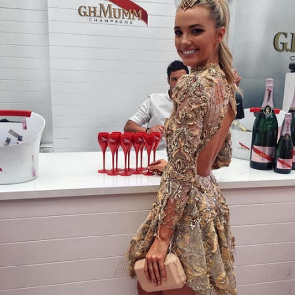 Olga Berg // Brooke Hogan wearing the 'LIA' Pod at Melbourne Cup Day 2016 #olgaberg #springracing #MelbourneCupDay 2016