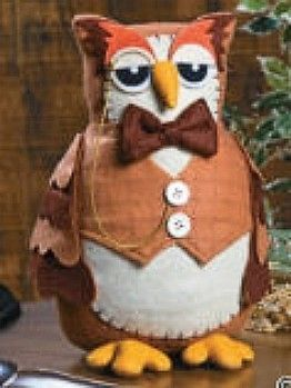 Owl Fall Harvest Thanksgiving Halloween Owls Birds Plush Wise Teacher scholar
