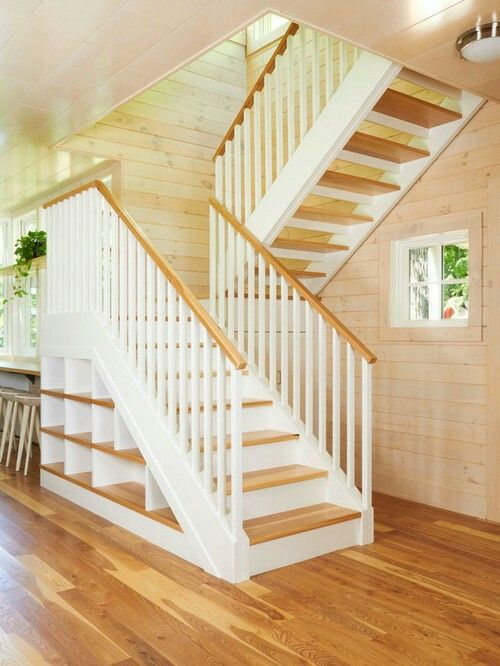 U shaped Stairs (or sometimes called half turn stairs or switchback stairs) U Shaped stairs are basically 2 parallel flights of straight stairs joined by by a landing that requires 180 degree turn in the walk line.