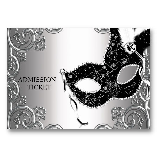 I like the idea of admission tickets... But Pink and Black Masquerade Party Admission Tickets
