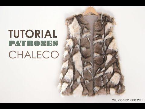 DIY Tutorial: Como hacer chaleco de pelo (patrones gratis) - YouTube