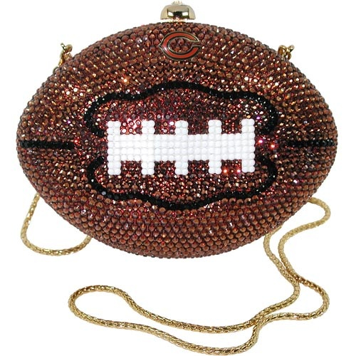 Kathrine Baumann Chicago Bears Mini Jeweled Football Purse ...