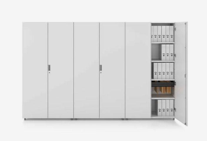 Full Height Storage Office Storage Cabinets Workroom Storage