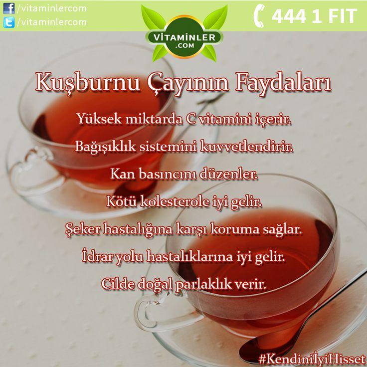 Kuşburnu Çayının Faydalarını Tüm Dostlarınızla Paylaşın. #vitaminler…