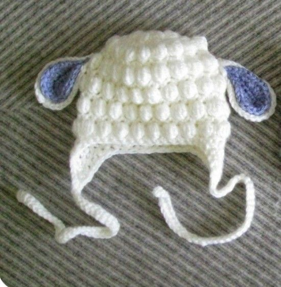 Crochet Bubble Lamb Hat Free Pattern
