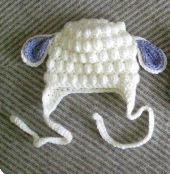Crochet burbuja Cordero Sombrero libre del patrón