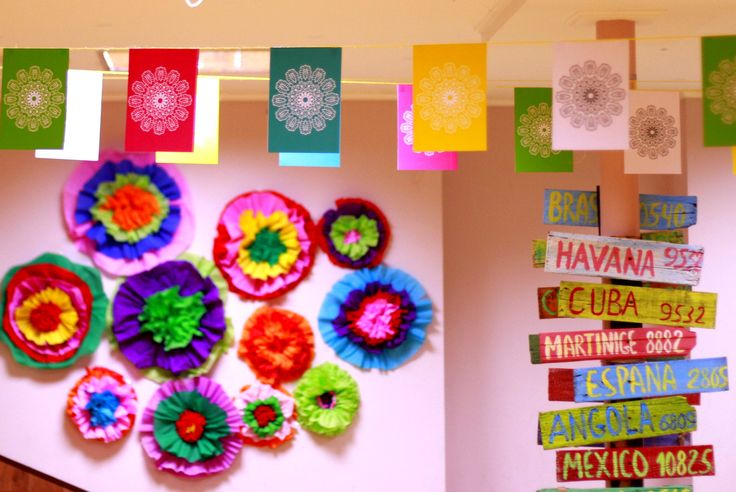 Мексиканские декорации,бумажные цветы, mexican decor, paper flowers, Sokho decor studio, party decorations, mexican party
