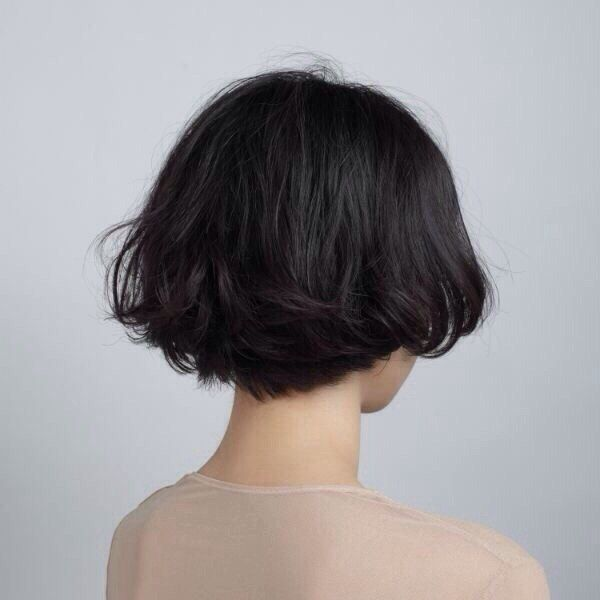 short bobbed hair