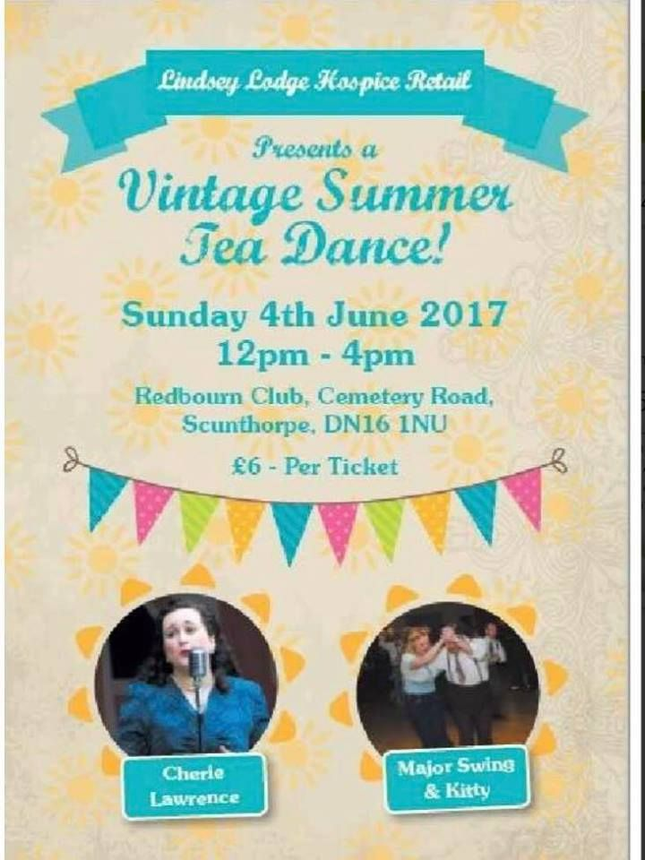 With the Vintage Calendar getting busy don't forget to add our Summer Tea Dance to your Calendar. Tickets are available now from all of our hospice shop or on our online shop with free postage. http://www.lindseylodgehospice.co.uk/c/49/Events or simply Telephone 01724 854824 mon to fri