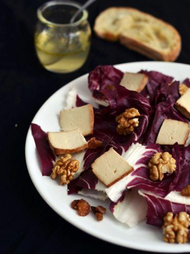insalata di tofu e radicchio