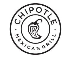 Chipotle / logo / Mexican food / restaurant / black and white / great logo!