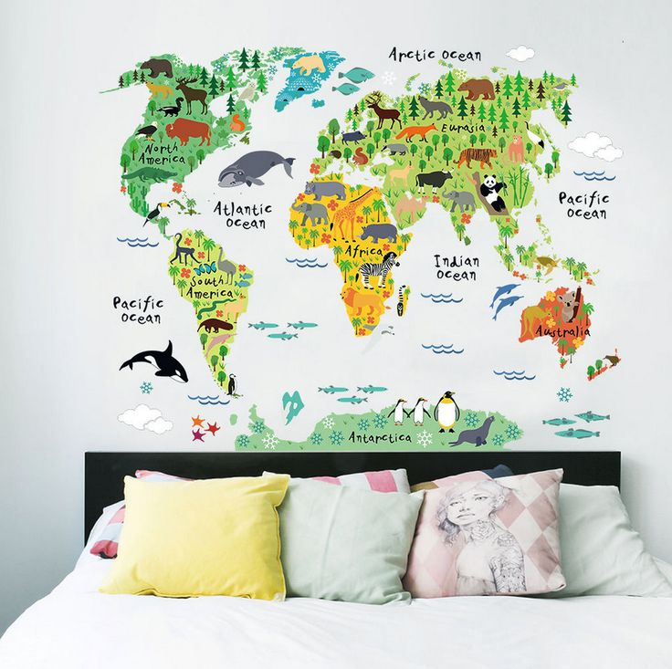 Best  World Map Wall Decal Ideas On Pinterest Vinyl Wall - Wall stickers decals