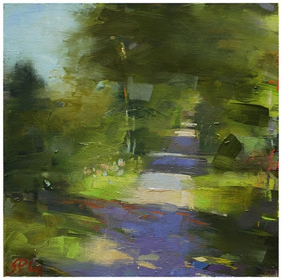 Steven P Goodman. Small scale painting. Love the brush strokes and what he accomplished with such simplicity.