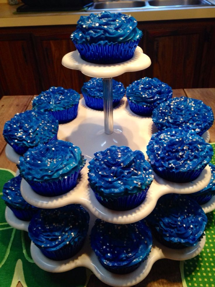 Dr Who inspired galaxy cupcakes I made for my sons 12th birthday:)