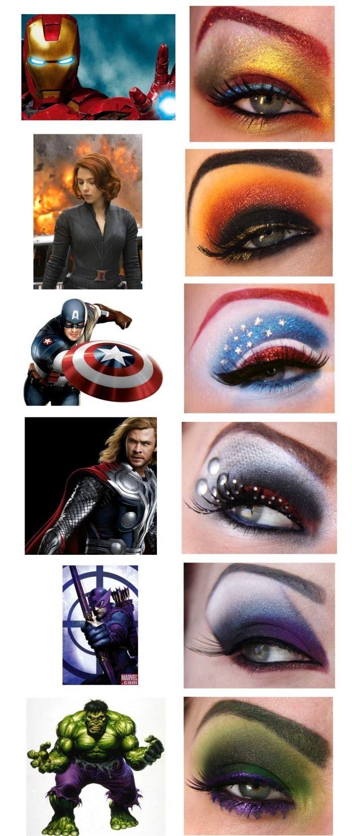 Avenger eye make up!! Just so you know how it goes.: Eye Makeup, Eye Shadows, Makeup Ideas, Eyemakeup, Super Heroes, Eyeshadows, Makeup Design, Superhero, The Avengers