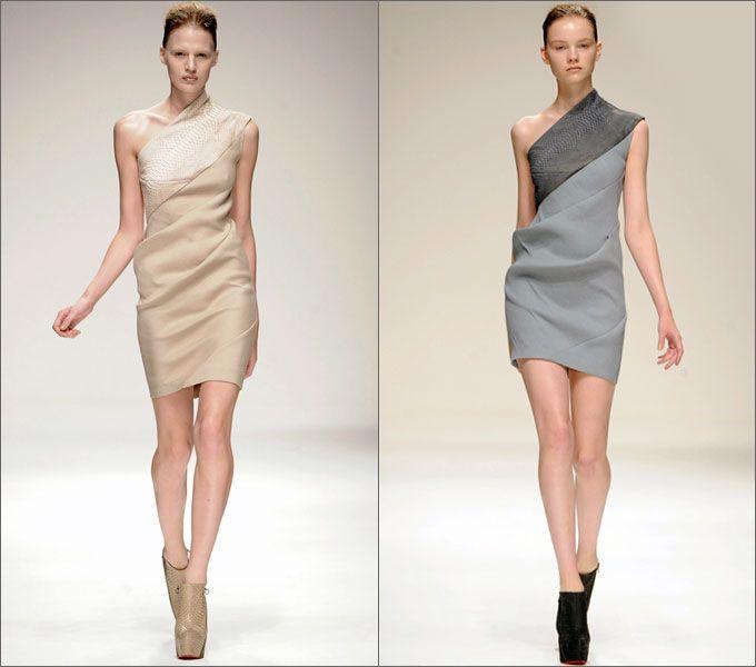 Асимметричные платья от Todd Lynn