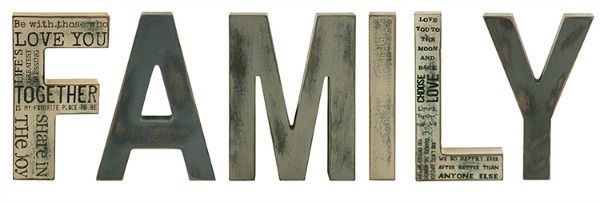 """Family"" Wooden Block Letters"