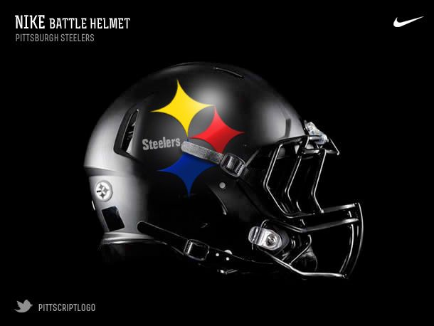 Pittsburgh Steelers Helmet Redesign by Bryan Brunsell