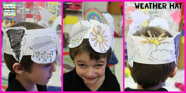 Make a weather hat!  Kick off your weather unit by making a cute, fun weather hat!