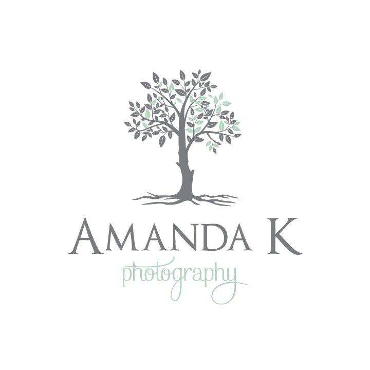 Amanda K Photography | Tree logo design | Photography Logo | Designed by www.theautumnrabbit.com