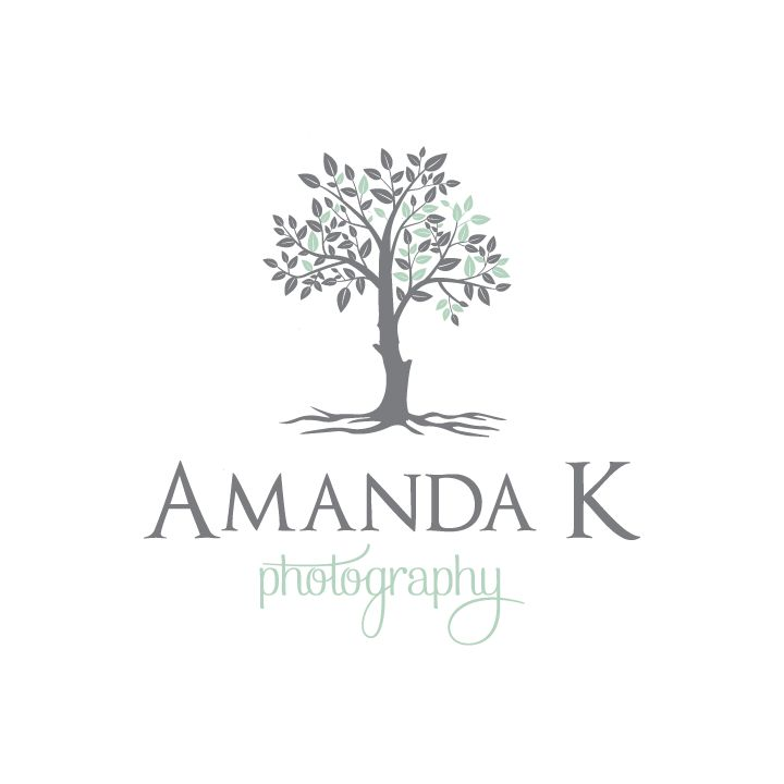 Amanda K Photography | Tree logo design | Photography Logo | Designed by www.theautumnrabbit.com