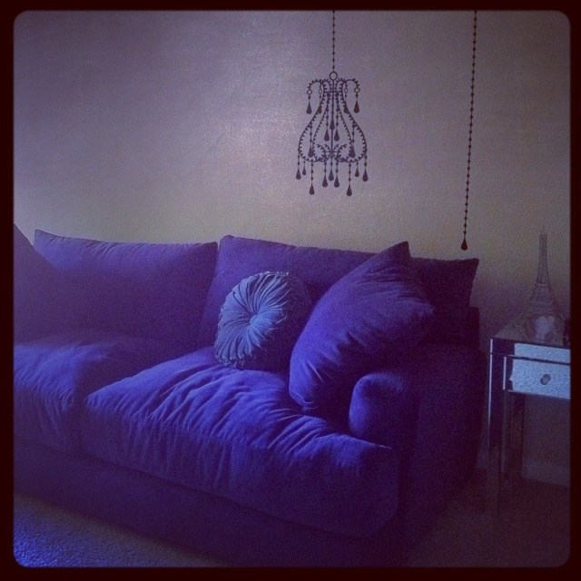 Meet my purple couch...
