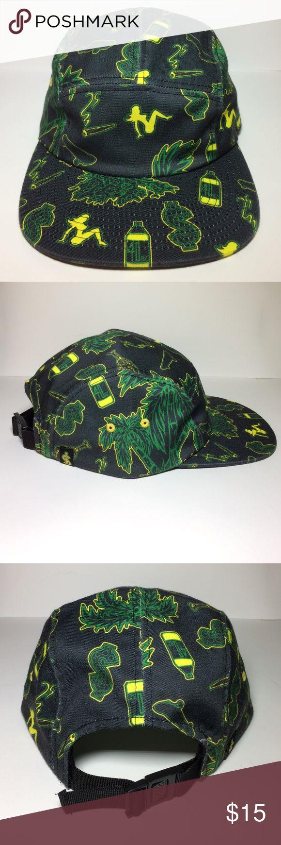 SHAKE JUNT 5 Panel Hat For sale is a SHAKE JUNT 5 panel hat (lightly worn). #alloverprint #chickenbone Shake Junt Accessories Hats