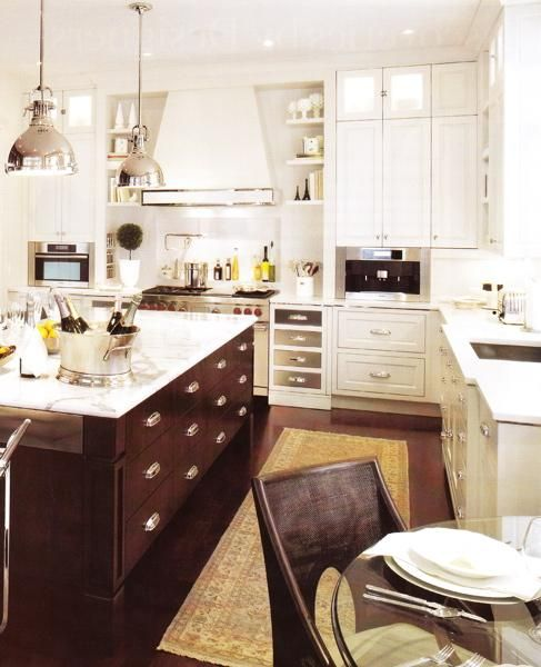 Glossy White Kitchen Cabinets With Chrome Pulls Hardware
