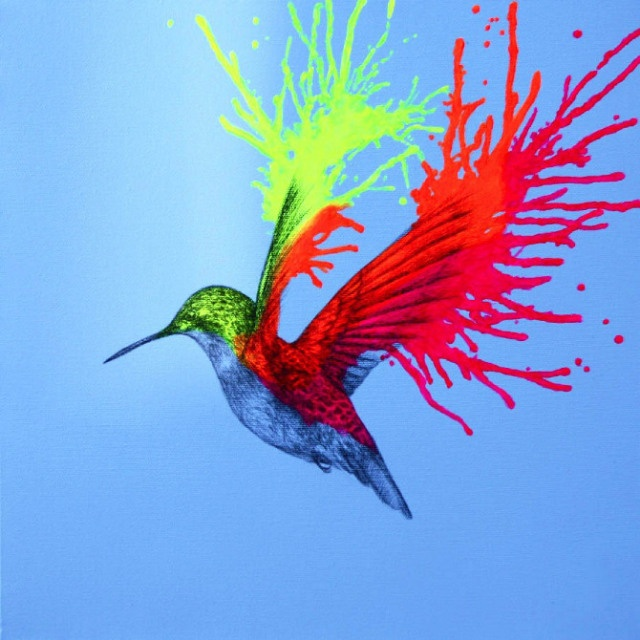 Neon Animal Drawings & Paintings by Louise McNaught ...