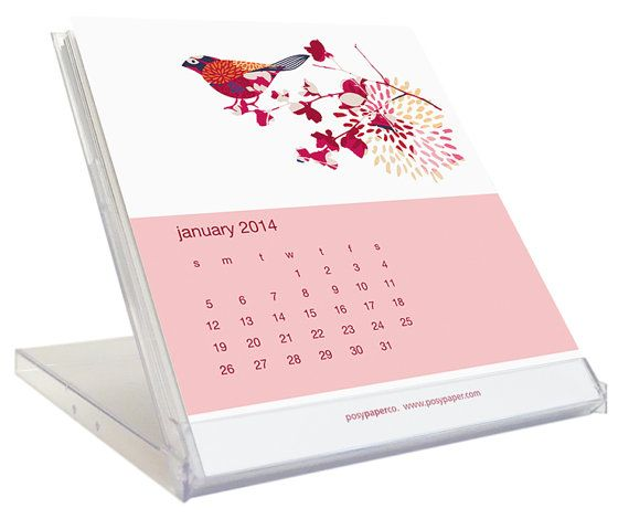 2017 Desk Calendar Cd Jewel Case Clear Plastic Stand By Posypaper 15 99