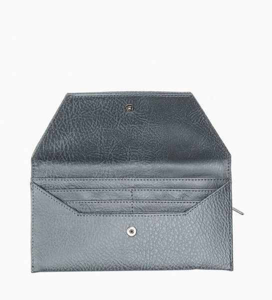 Matt & Nat Pewter Nathalie Wallet  This beautiful wallet features 6 credit cards slots, 1 notes compartment and a zippered coin pocket.  100% recycled plastic bottles nylon lining.