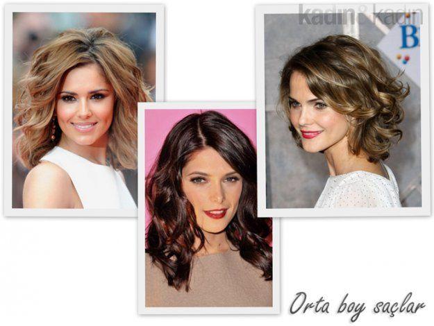 Orta boy saçları dalgalandırarak bakın neler elde edebilirsiniz!