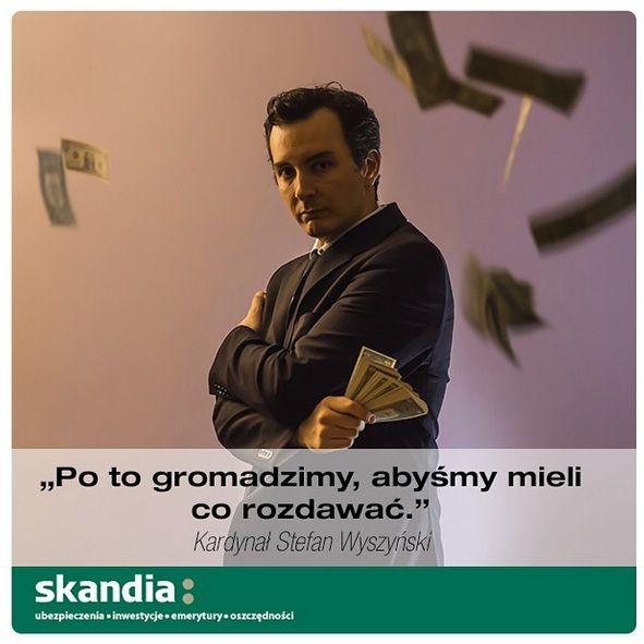 """""""Po to gromadzimy, abyśmy mieli co rozdawać"""" Kardynał Stefan Wyszyński #cytaty #motywacja #finanse #pieniądze #skandia www.skandia.pl http://instagram.com/skandia_zycie"""