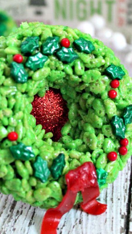 Rice Krispie Treat Wreaths