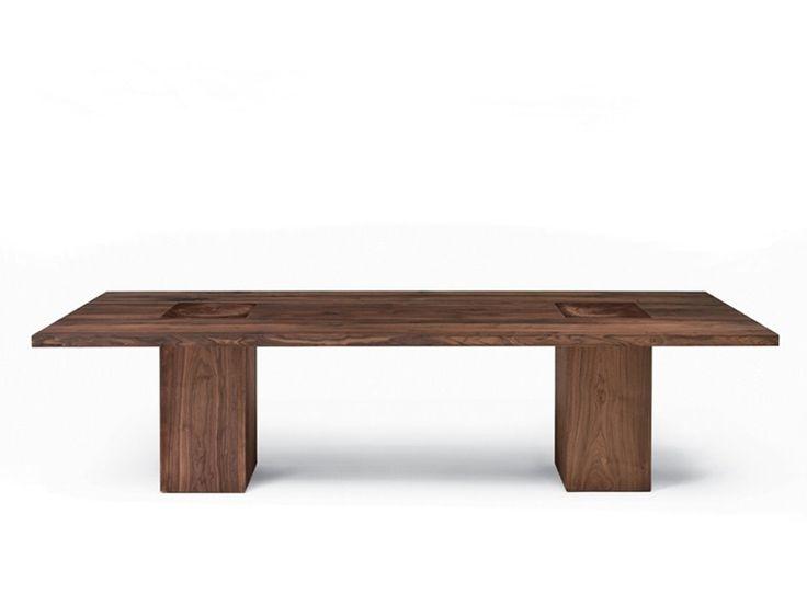 Tavolo rettangolare in legno BOSS EXECUTIVE Collezione Boss Executive by Riva 1920 | design Maurizio Riva, Davide Riva