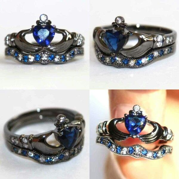 Something like THIS is what I would want as an engagement ring/wedding set...someday.