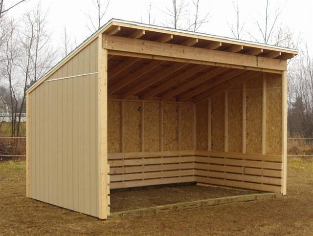 De 25 bedste id er inden for horse shelter p pinterest for Three sided shed plans