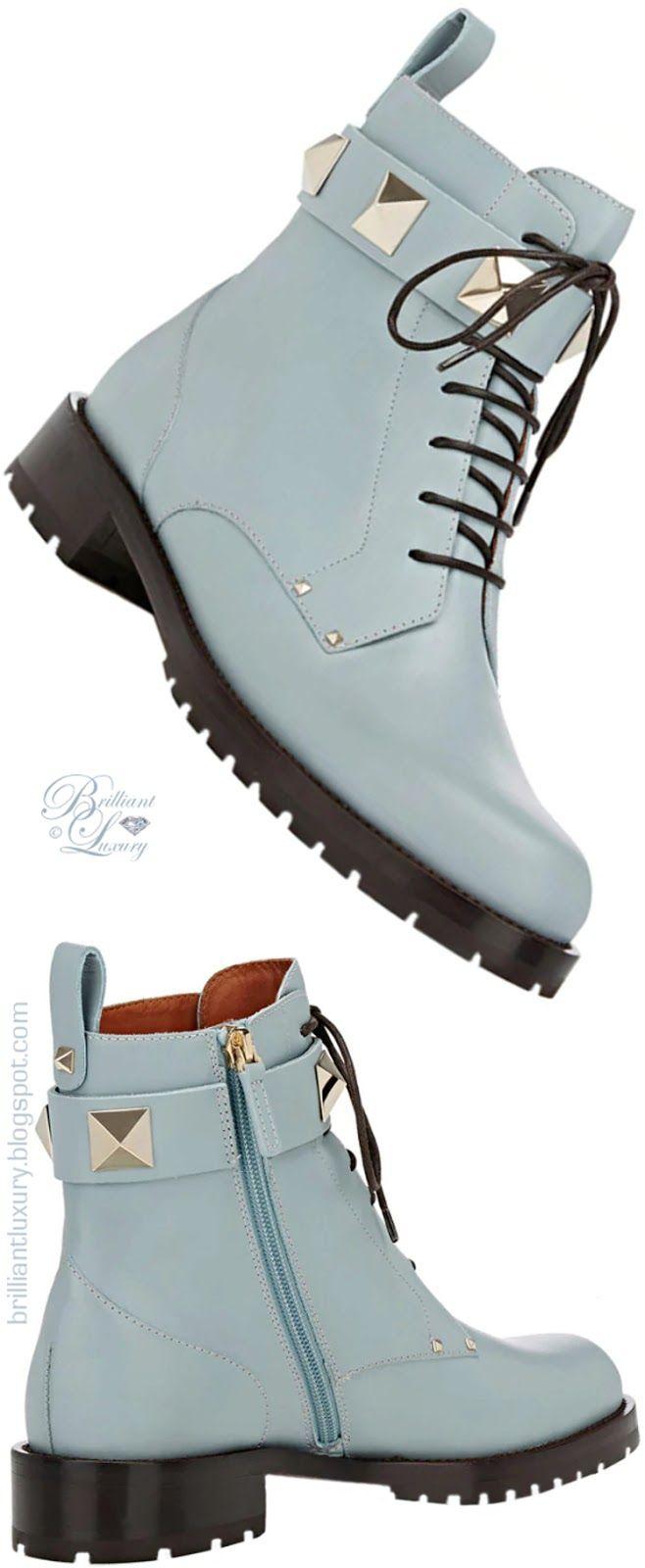 Brilliant Luxury ♦ Valentino Garavani Rockstud Leather Combat Boots
