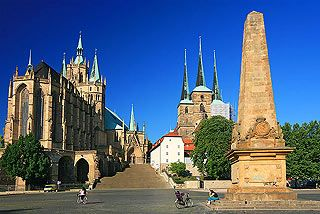 Erfurt, Germany...I won't soon forget my incredulity when I rounded a street corner and got my first look at the Dom Platz and Erfurt Cathedral.