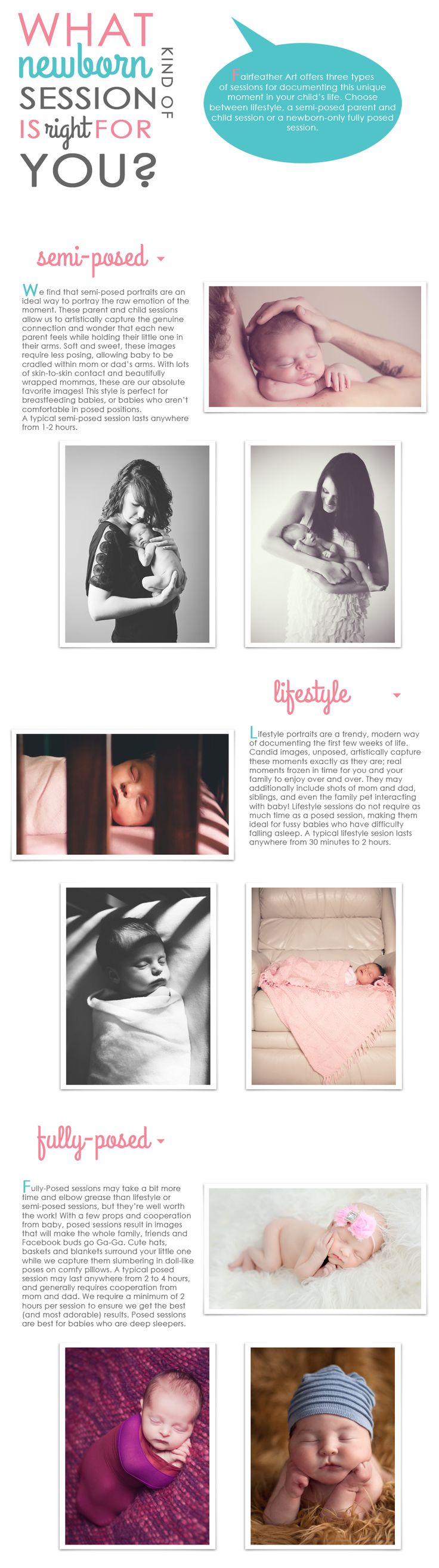 What type of newborn session is best for you...love the idea of creating this kind of information to put out there to illustrate the differences between lifestyle & posed photography