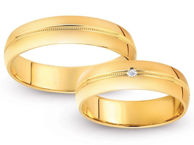 Obrączki ślubne - żółte złoto