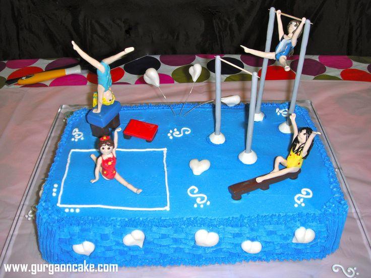 Gymnastics Birthday Cake toppers