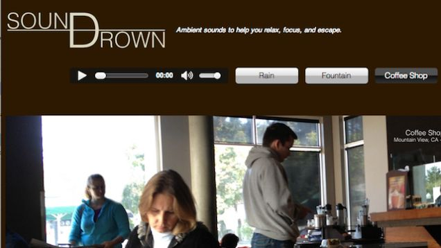 Soundrown Plays Coffee Shop Noise, White Noise, Rain, and More to Help You Focus