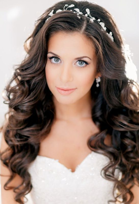 down in curls wedding hairstyle
