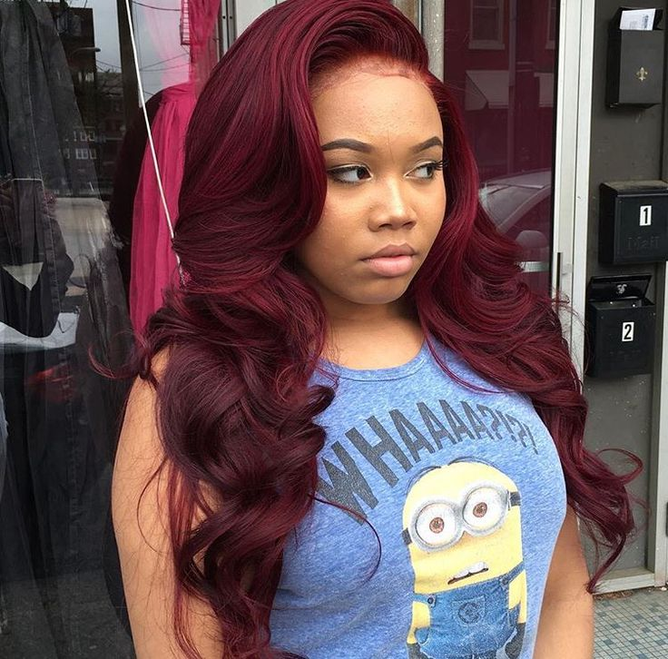 colored weave hairstyles