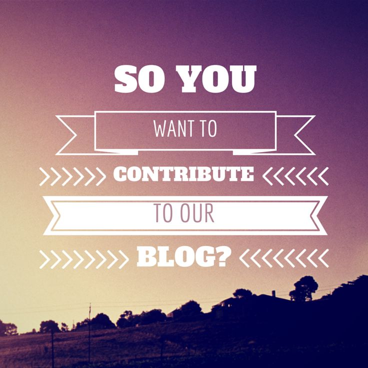 So you want to contribute to the Eco Warrior Princess blog?