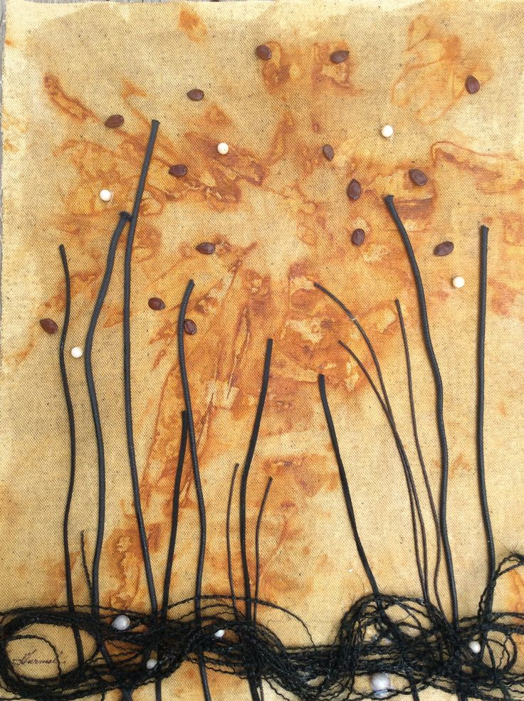 """ Burst of Nature"" Experiment with rust staining by Jeanne Turmel"